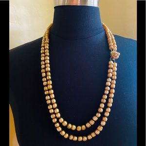 Vintage Miriam Haskell Faux Pearls - Double Strand